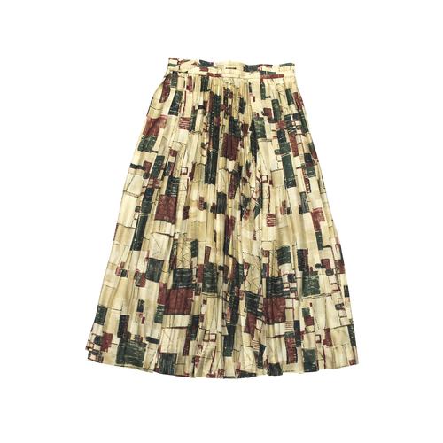 fumika uchida paint print pleated skirt print starling online